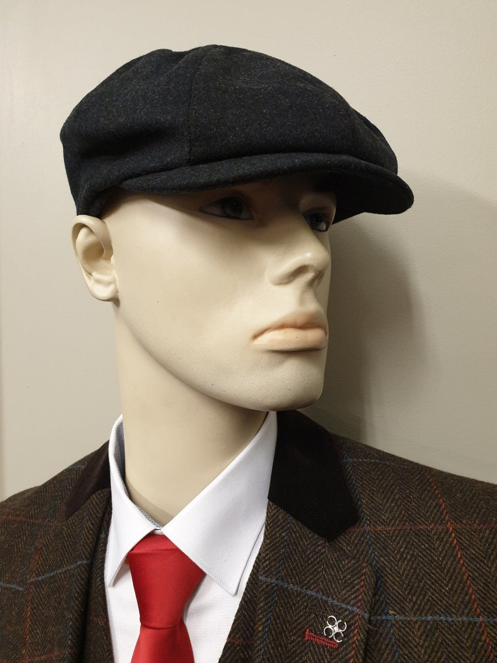 Peaky Blinders Grey Melton Wool 8 Piece Cap