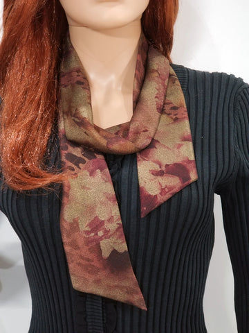 Floral Copper Scarf