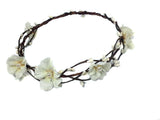 Off White Woodland With Pearls Crown