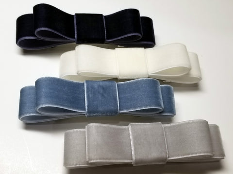 Velvet Double Ribbon Hair Bows