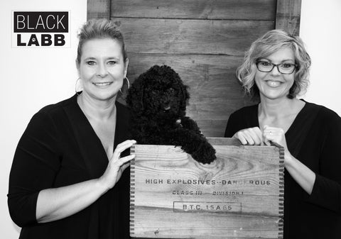 Linda Audette & Becky Boileau with Cash the Dog
