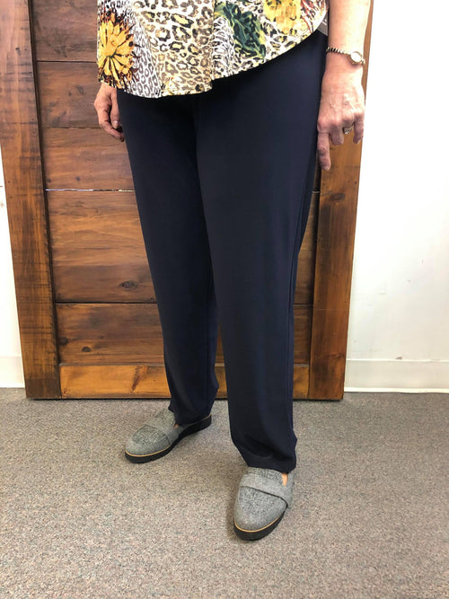 Navy Pull On Cigarette Petite Pant