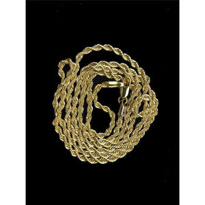 14k Gold Rope Chain - 20inch rope chain