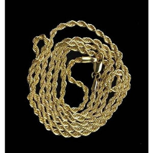 14k Gold Rope Chain - 24inch rope chain
