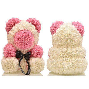 16 Rose Teddy Bear - pink bear 1