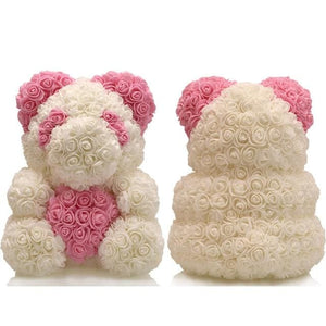16 Rose Teddy Bear - pink bear 2