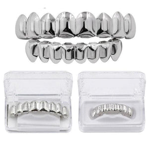 Adjustable Gold & Silver Grill - Rhodium Plated