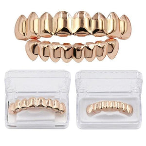 Adjustable Gold & Silver Grill - Rose Gold Color