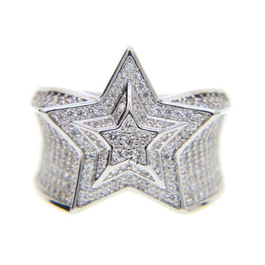 Bust Down Star Ring