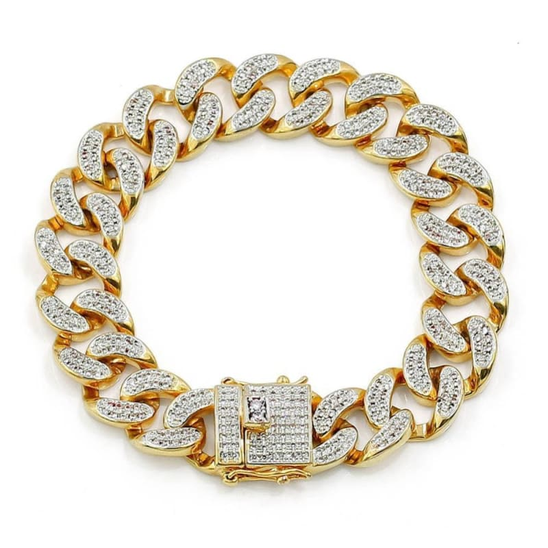 Diamond Cuban Bracelet - 20cm