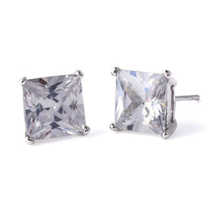 Diamond Stud Earrings - Square Diamond Stud