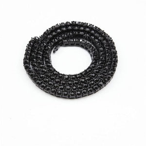 Diamond Tennis Chain - black / 18inch