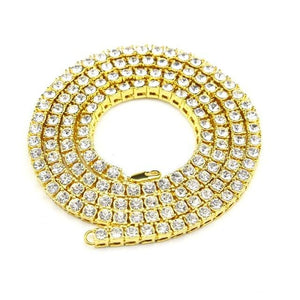 Diamond Tennis Chain - gold / 18inch