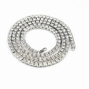 Diamond Tennis Chain - silver / 18inch