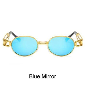 Free Bout it Glasses - Blue Mirror / Gold