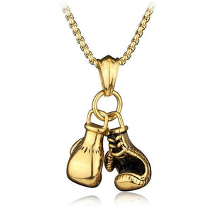 Free Boxing Gloves Pendant - big gold