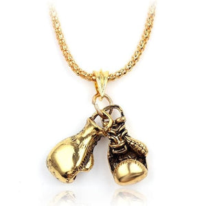 Free Boxing Gloves Pendant - small gold
