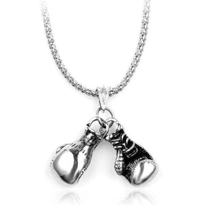 Free Boxing Gloves Pendant - small silver