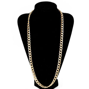 Free Gold Cuban Link Chains - 34inch