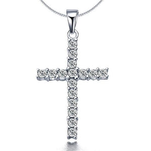 Free Iced Out Cross Necklace