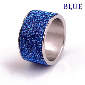 Free Iced Out Pinky Ring - 6 / Blue / gold plated