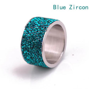 Free Iced Out Pinky Ring - 6 / Blue Zircon / gold plated