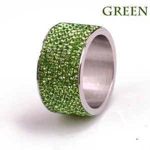 Free Iced Out Pinky Ring - 6 / Green / gold plated