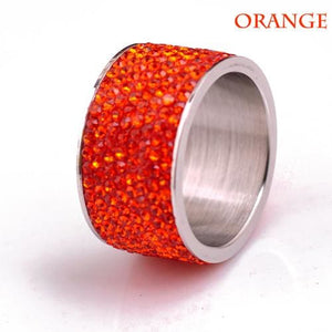 Free Iced Out Pinky Ring - 6 / Orange / gold plated