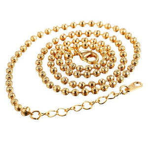 Free Multi Style Link Chains - bead chain golden