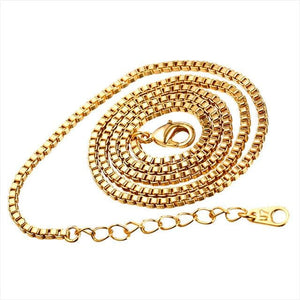 Free Multi Style Link Chains - box chain golden