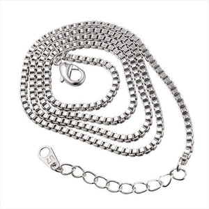 Free Multi Style Link Chains - box chain white