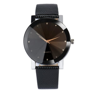 Free Qaurtz watch - black face silver lining