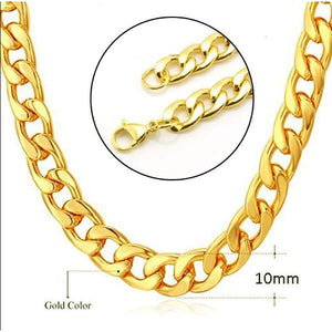 Free Royal Cuban Link Chains - Gold-color / 18inch 45cm