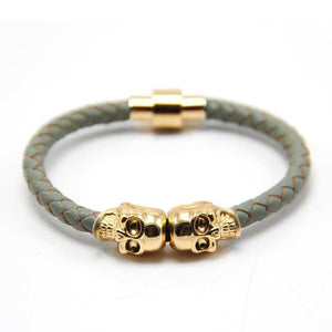 Free Skull Bracelet - gold with grey