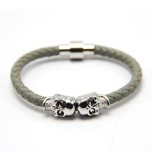 Free Skull Bracelet - silver with grey