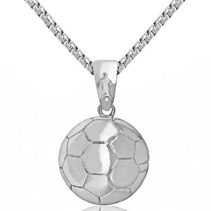 Free Sport Logo Chains (All Sports) - Silver Soccer Ball