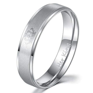 Free Stainless steel Promise rings - 7 / Her King