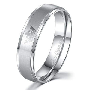 Free Stainless steel Promise rings - 7 / His Queen