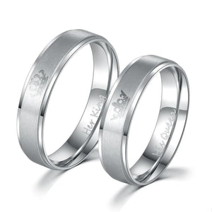 Free Stainless steel Promise rings