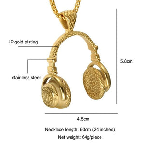 Head Phone Chain - Gold / 60cm