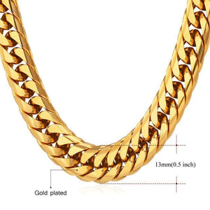 High End Cuban Links - 13mm Gold Plated / 22 inches / United States