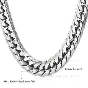 High End Cuban Links - 13mmstainless steel / 22 inches / United States