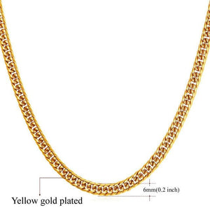 High End Cuban Links - 6mm Gold Plated / 22 inches / United States