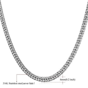 High End Cuban Links - 6mm stainless steel / 22 inches / United States