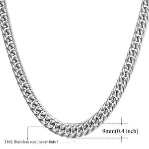 High End Cuban Links - 9mm stainless steel / 22 inches / United States