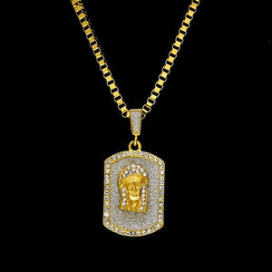 Iced out 100 Pendant - jesus / 70cm