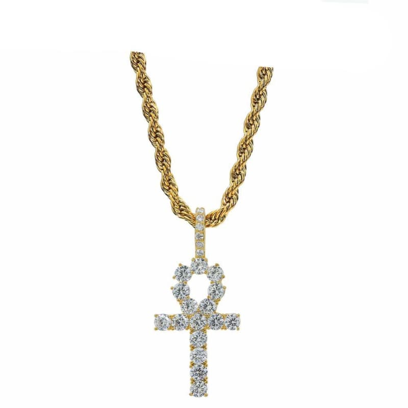 Iced out Ankh Chain