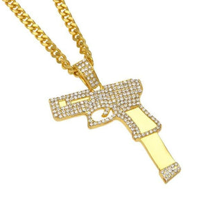Iced out Glock Chain - Gold Plated