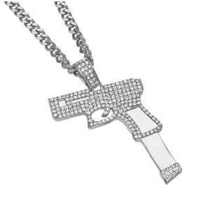 Iced out Glock Chain - Silver Plated