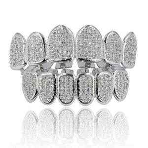Iced Out Huncho Grillz - silver set